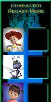 Pixar Female Protagonists Recast Meme