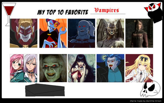 My Top 10 Favorite Vampires