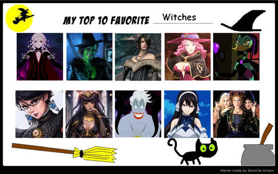 My Top 10 Favorite Witches