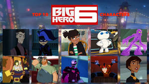 My Top 10 Favorite Big Hero 6 Series Characters