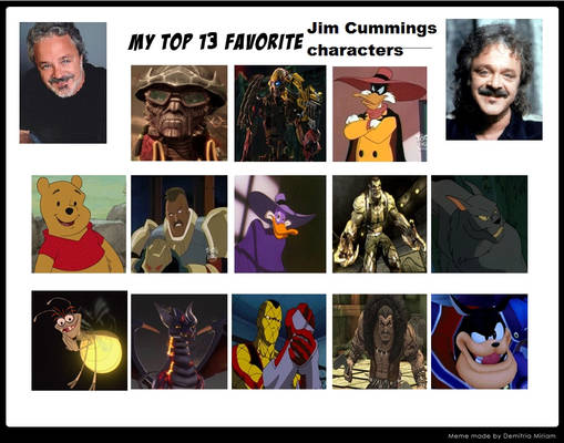 My Top 13 Favorite Jim Cummings Characters