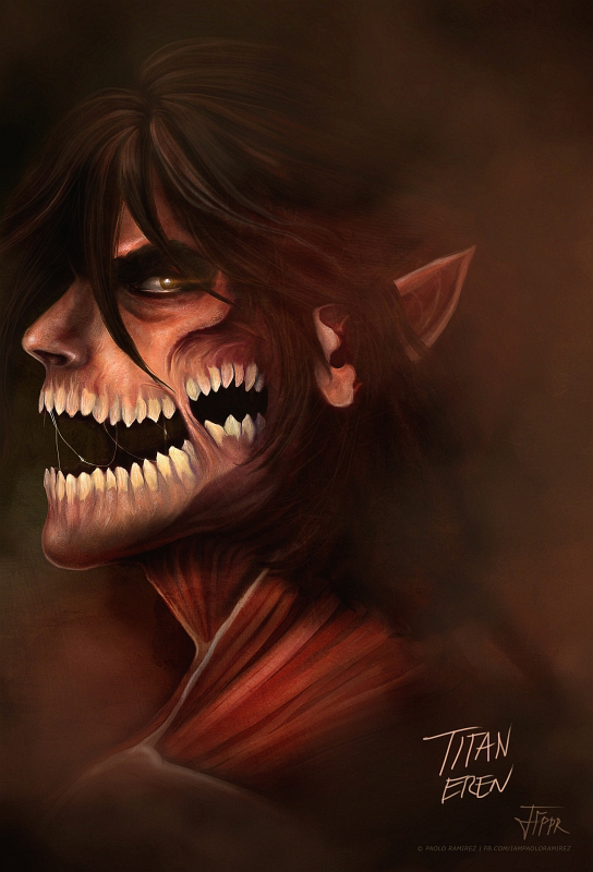 Attack on Titan: Titan Eren by pbozproduction