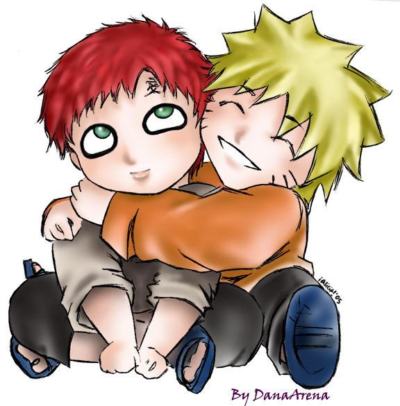 Chibi Gaara and Naruto-fanart by DanaArena on DeviantArt Gaara And Naruto Chibi