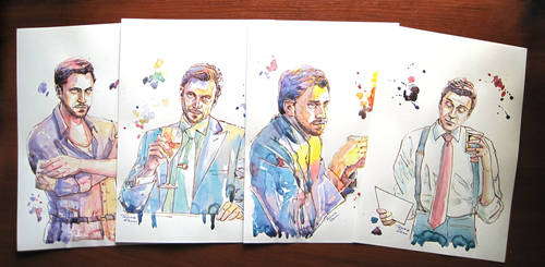Raul Esparza watercolour portraits by TommieGlenn