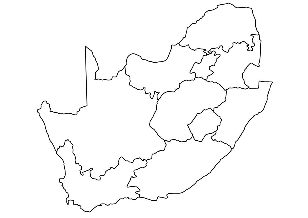 Geography Blog South Outline Map Of