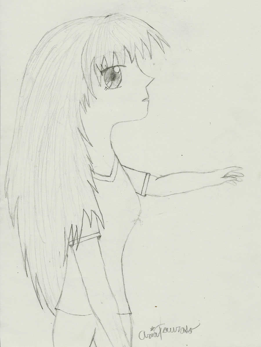 anime girl sideview by FullMoon10 on DeviantArt