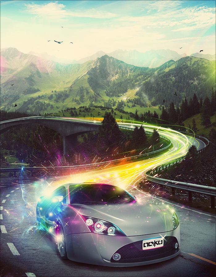 superhighway by wirestyle d36jdcf Inspiration Through Digital Art & Photo Manipulation