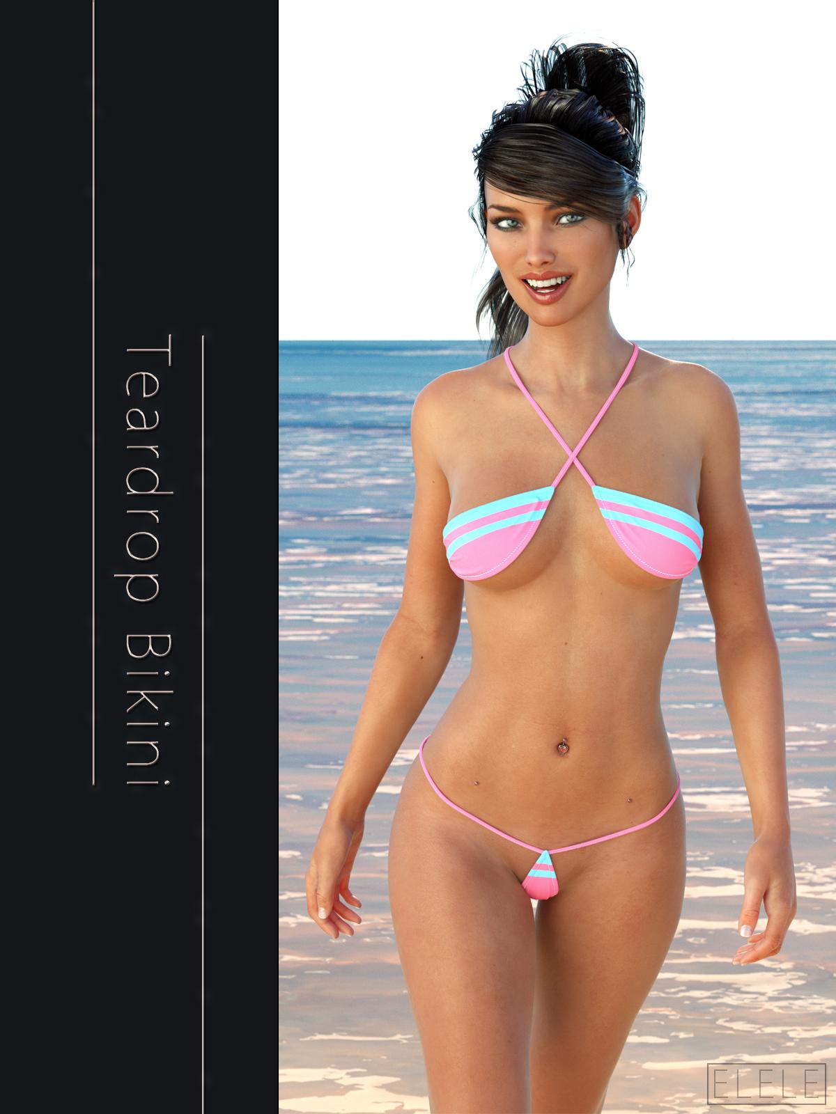 pics teardrop bikini