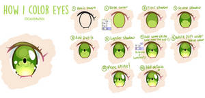 HOW I COLOR EYES | free step-by-step + P2U file