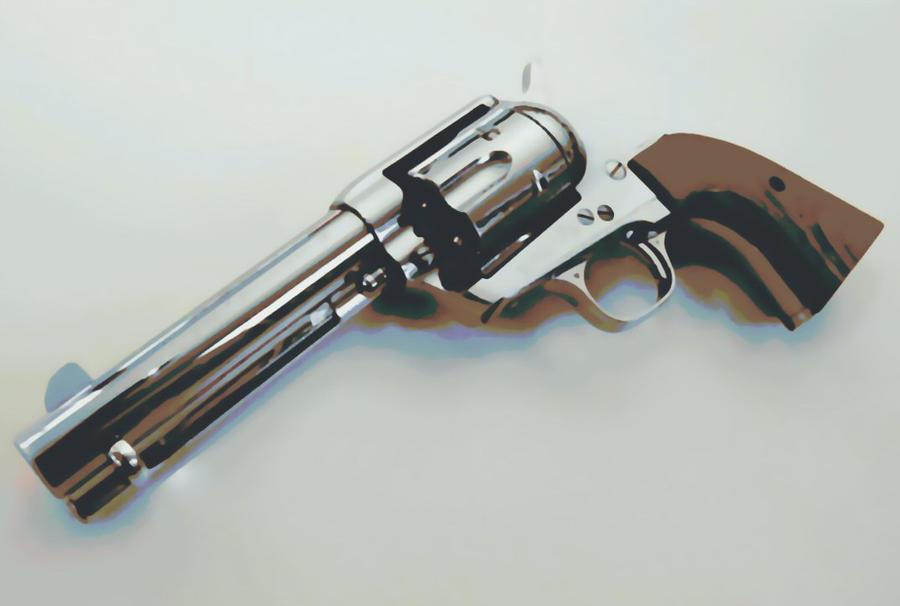 Colt 45 Peacemaker pistol Paint By Number Art Kit by numberedart