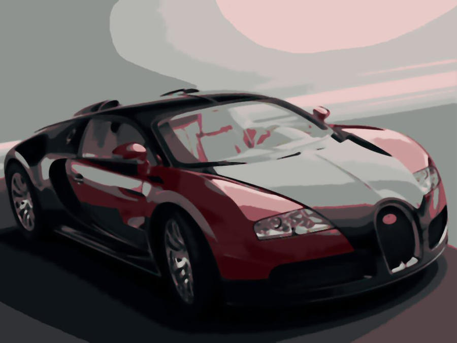 bugatti veyron super car paint by number art kit by. Black Bedroom Furniture Sets. Home Design Ideas