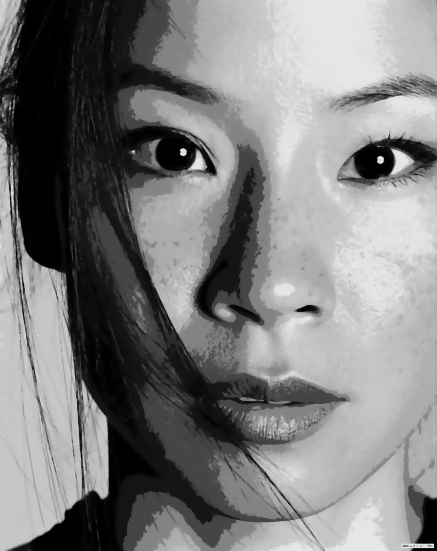 ... Lucy Liu Paint By NUmber Art Kit by numberedart