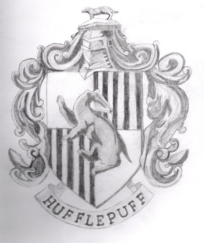 Hufflepuff Crest by AntiSparkleVampire on DeviantArt