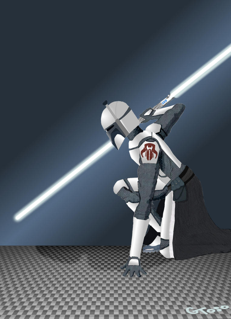 Requested OC: Mandalorian Jedi by AntiSparkleVampire on DeviantArt