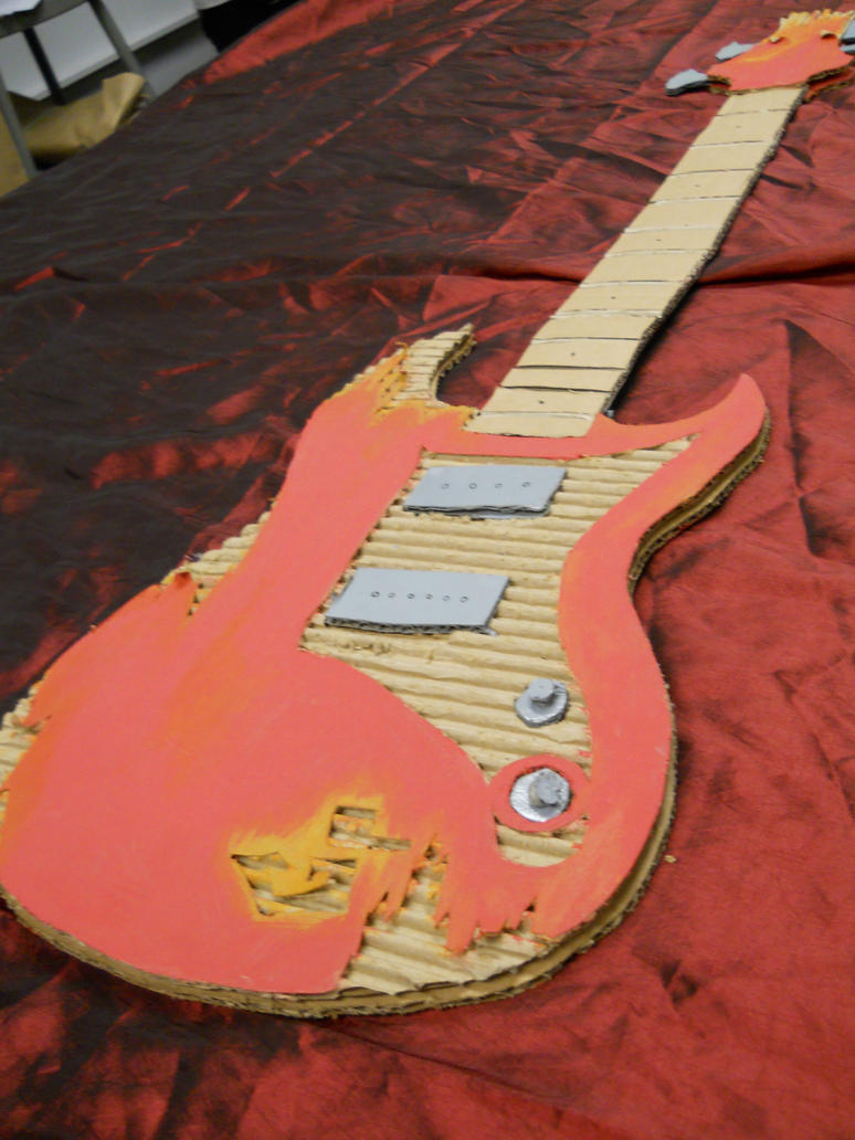how to make a cardboard guitar for a school project