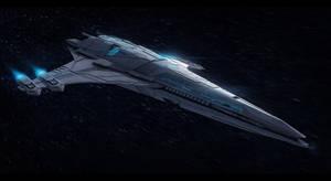 Star wars Terran Scout ship by ScifiDan96