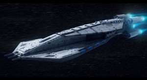 Star wars Terran Destroyer by ScifiDan96