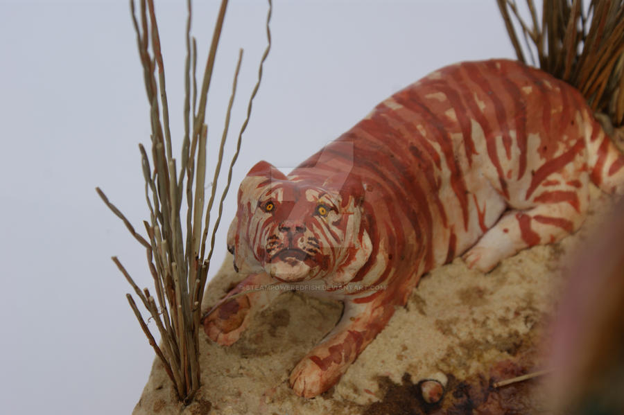 That Bloody Bird - Tiger detail by SteamPoweredFish