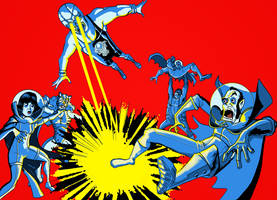 the super luchadores Vs the atomic space vampire