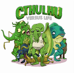 Cthulhu and friends by thehorribleman