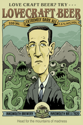 Lovecraft beer full page ad by thehorribleman