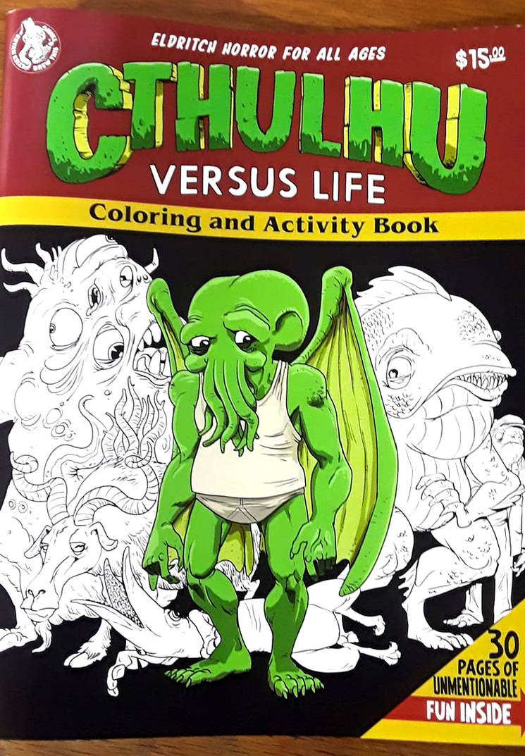 Cthulhu verus life coloring book by thehorribleman