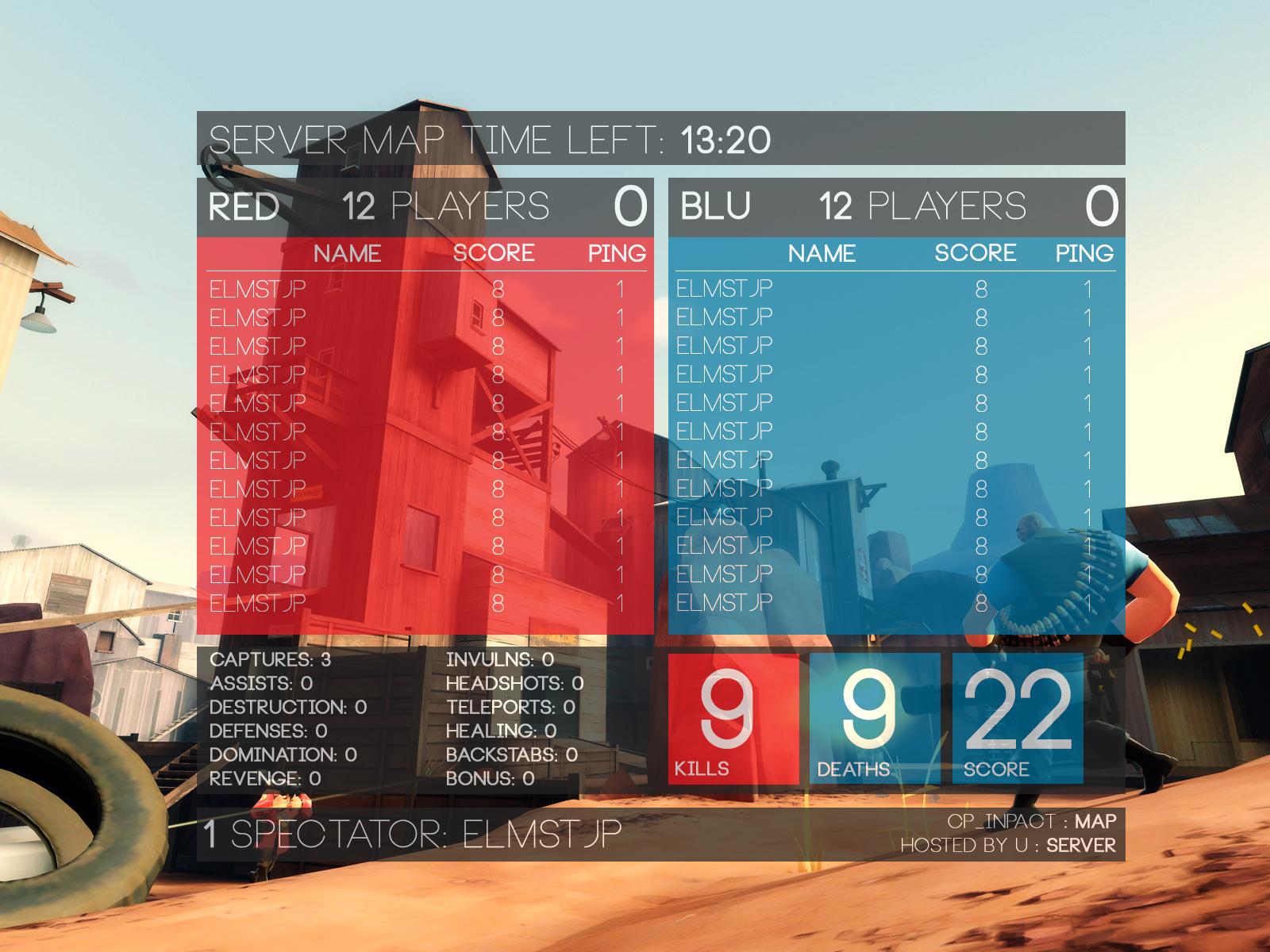 Design poster win8 - Tf2 Scoreboard Win8 Design By Almostjp Tf2 Scoreboard Win8 Design By Almostjp