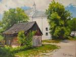 Kazimierz Dolny view of the st. Anna church.