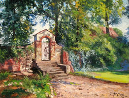 The gate of the village church in Loehme by Dreamnr9