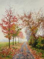 Autumn alley by Dreamnr9