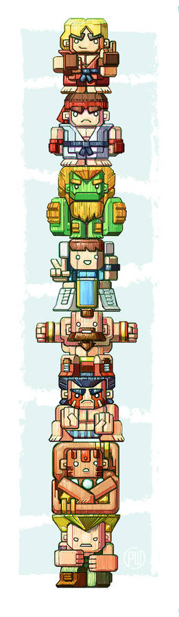 World Warriors Totem