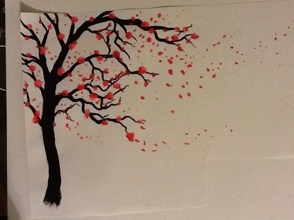 How To Draw A Cherry Blossom Tree In Pencil Cherry blossom tree low def by