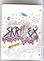 Skrillex Free Drawing in COLOR!! by MiniNinja2020