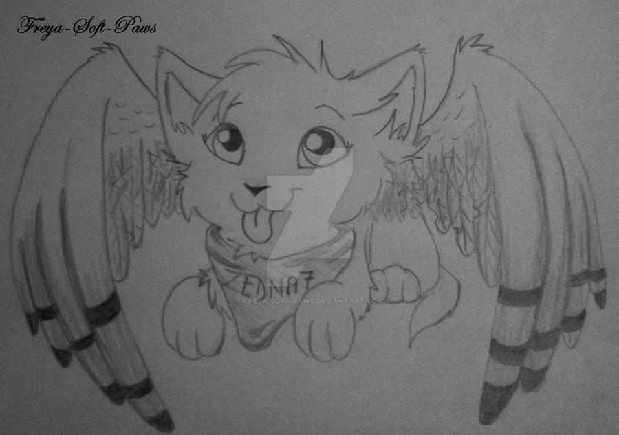 Winged Kitten by Freya-Soft-Paws