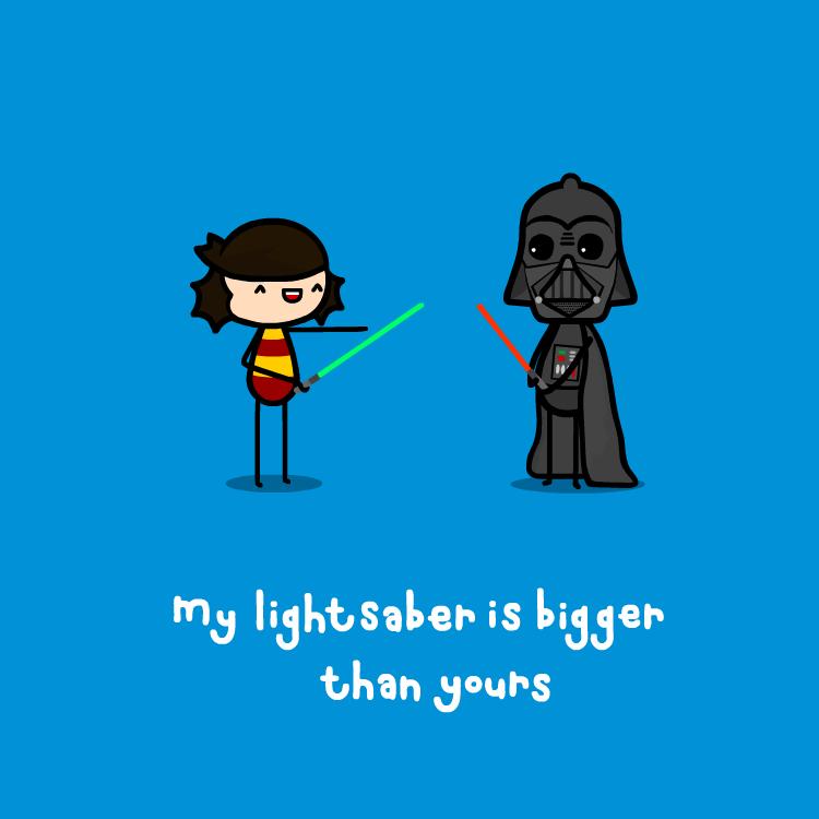 my lightsaber by sooperdave