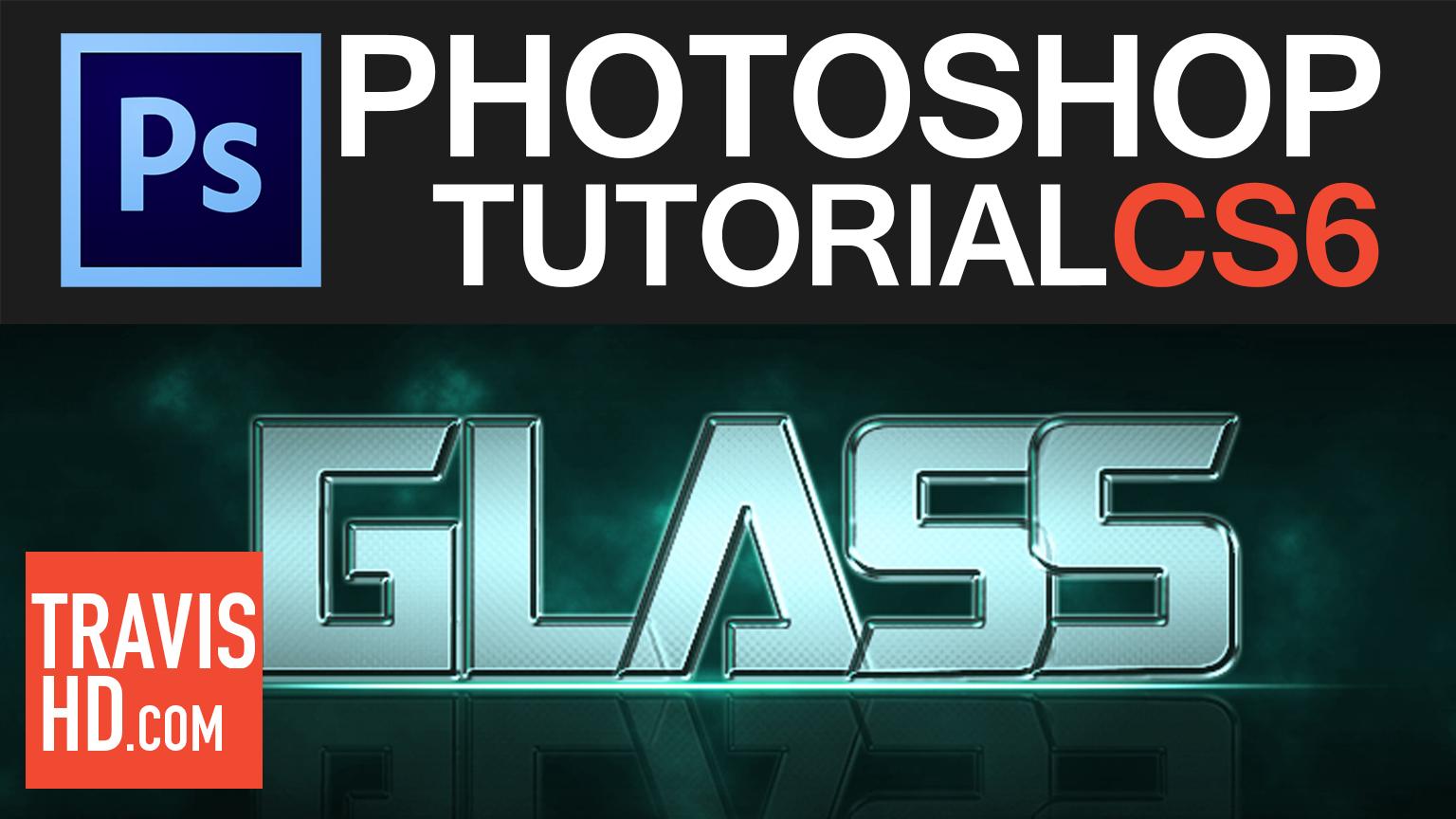 Photoshop Tutorial Video Glass Text by ShindaTravis