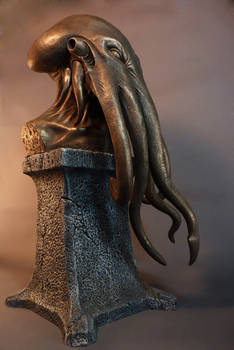 The Key of Cthulhu, faux bronze
