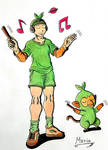 Grookey. Human form. by Mario-19