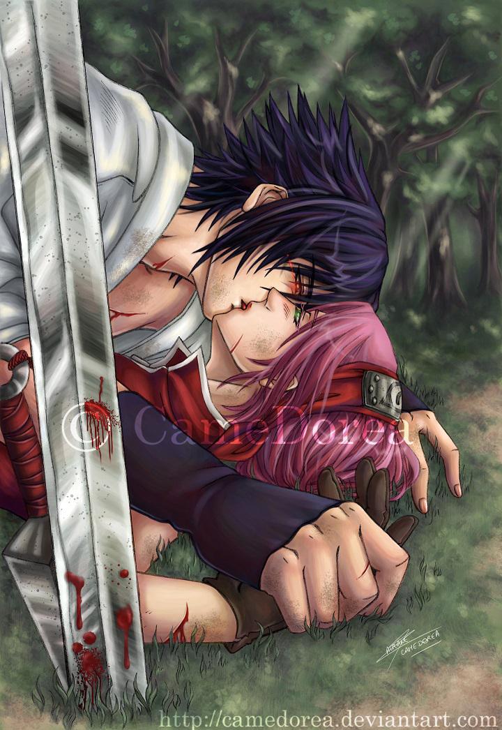 SasuSaku : I can't kill you... by CameDorea