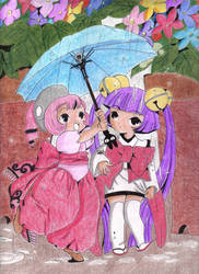 ++Under the rain++ Coloured by Saenda