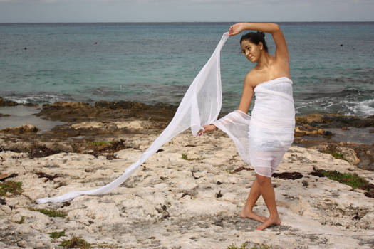 white fabric I