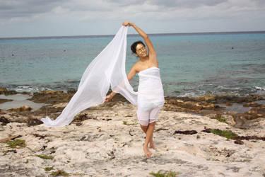 white fabric II