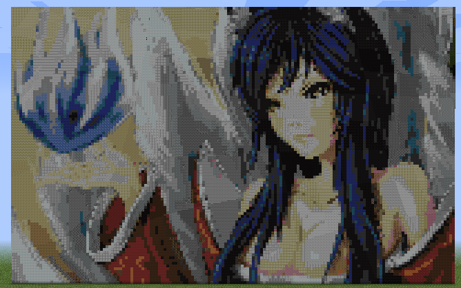 Minecraft league of legends ahri completed by kuuonn