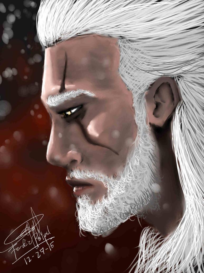 Sad White Wolf by HyMaster