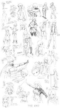 Female poses, interactions (Targa)