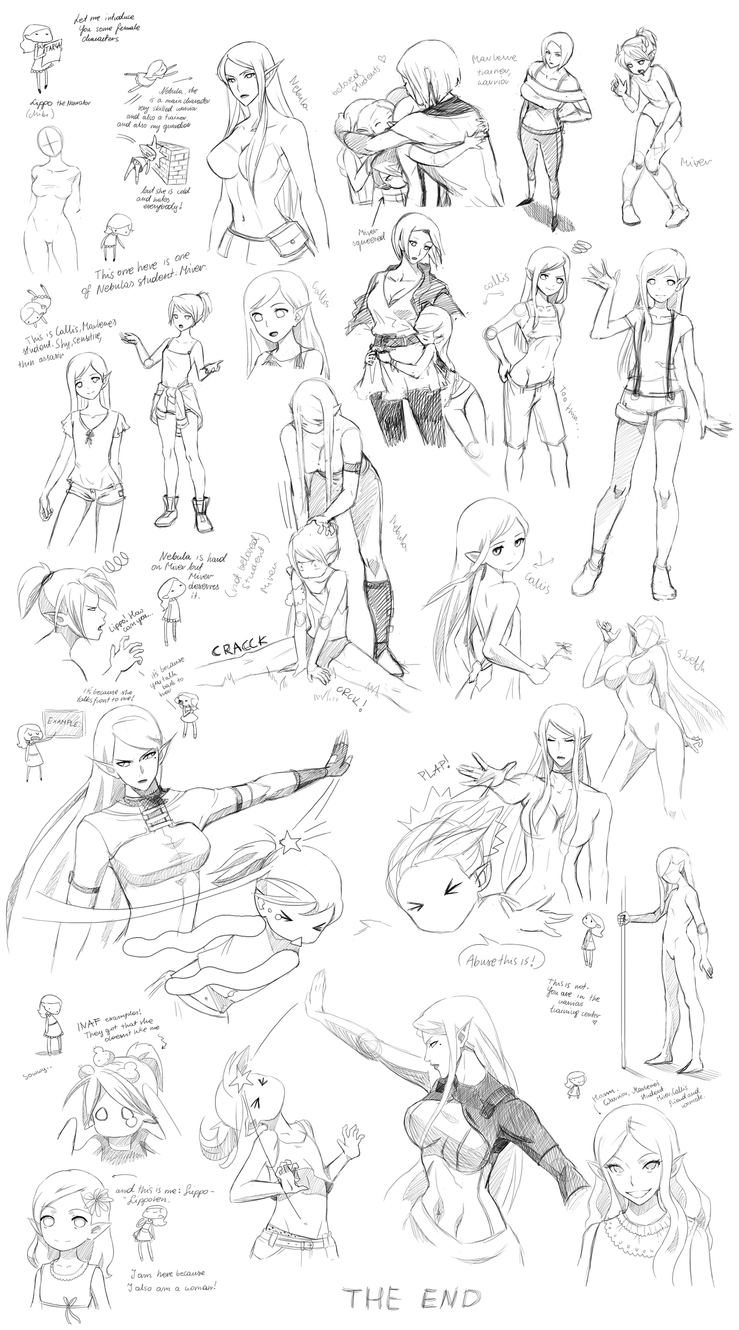 Female poses, interactions (Targa) by Precia-T