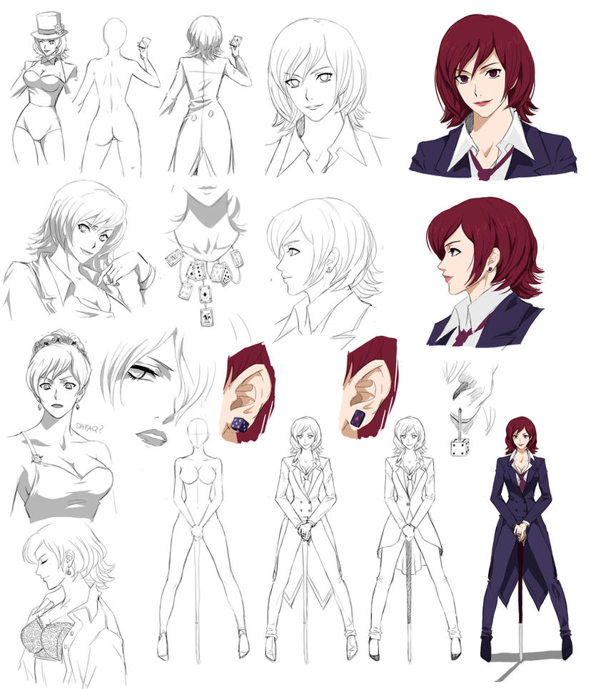 Female Cartoon Character Design : Female design steryle commision by precia t on deviantart