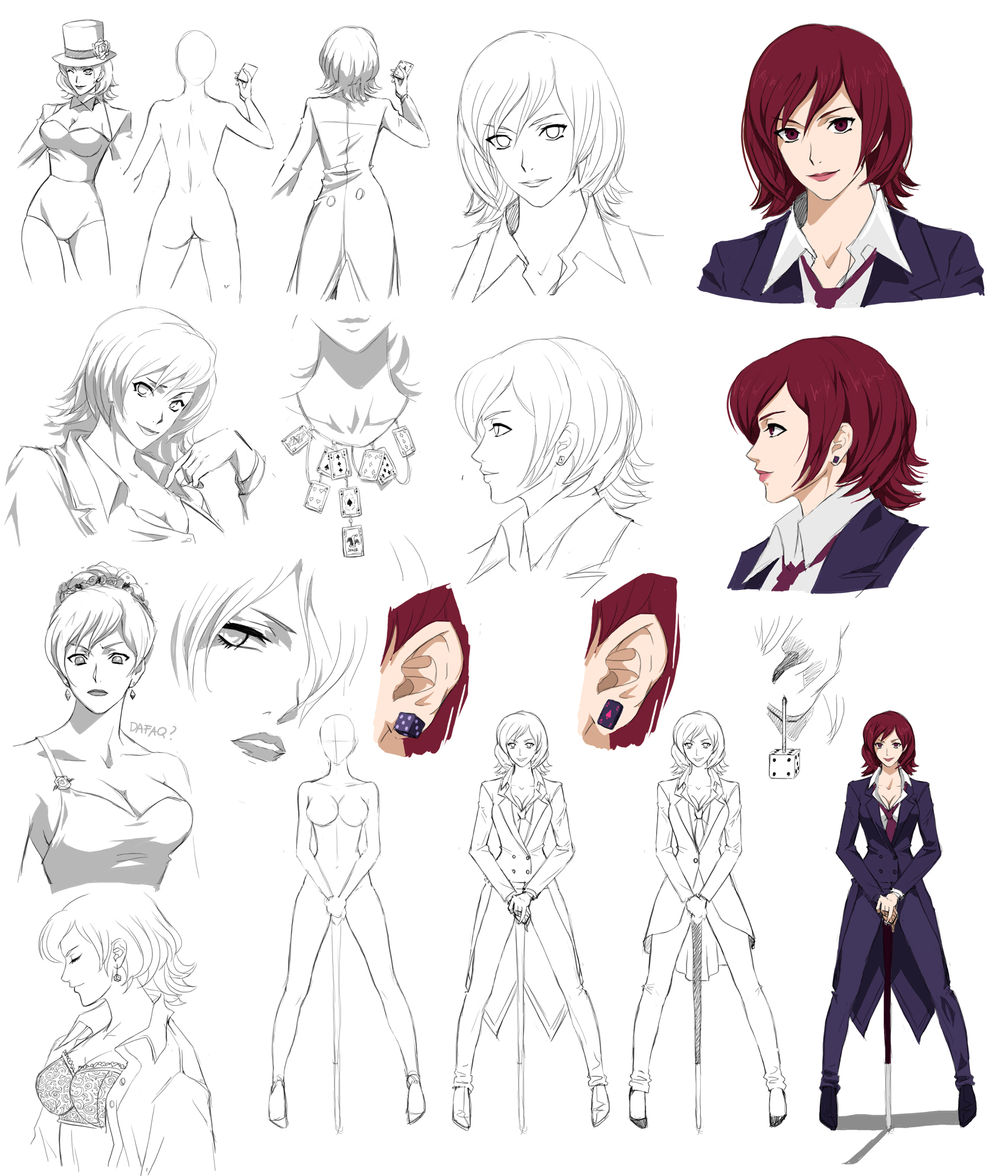 Anime Female Character Design : Female design steryle commision by precia t on deviantart