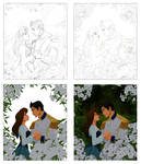 drawing Disney-like  steps