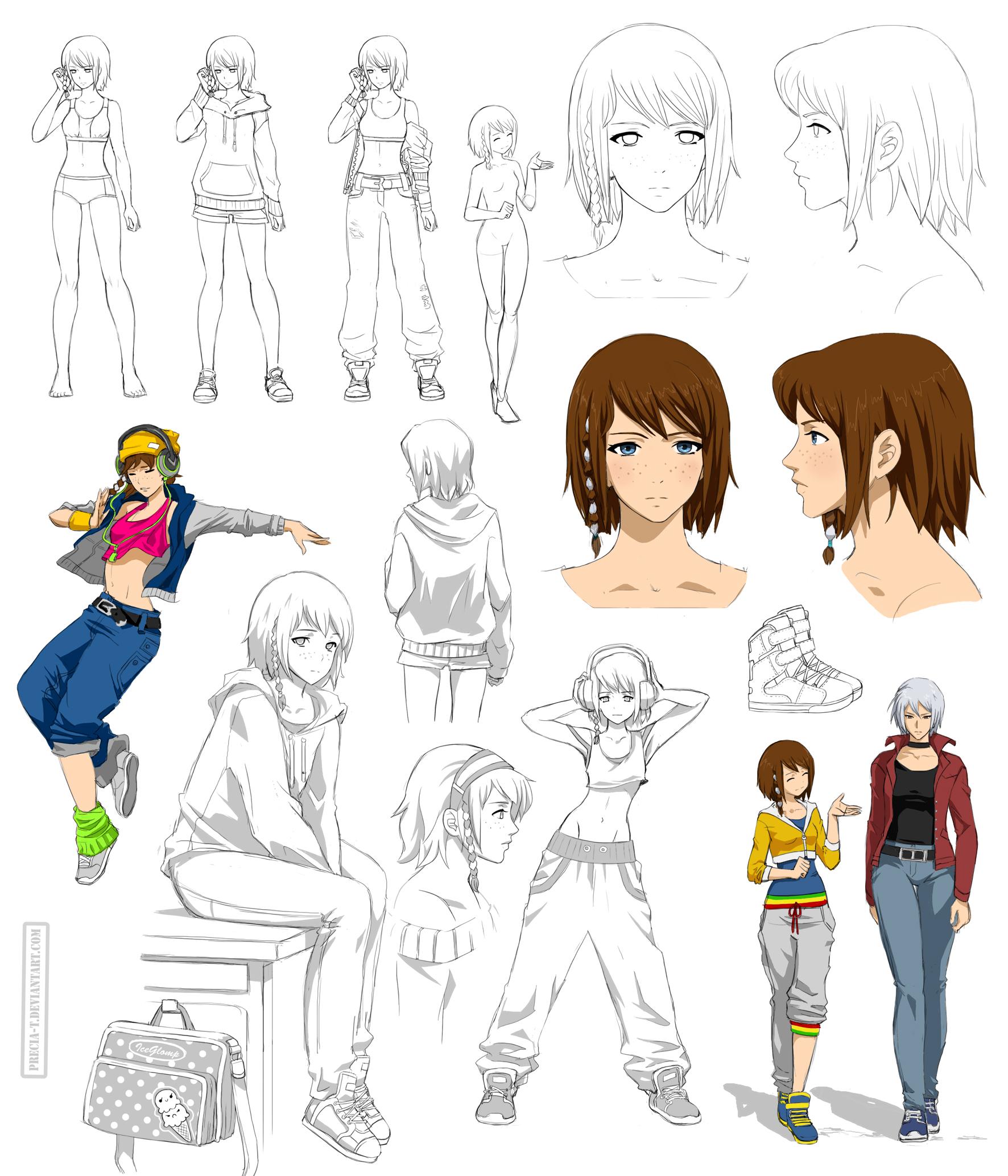 Hip Hop girl design, Maika (Commision) by Precia-T